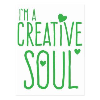 I'm a Creative Soul Postcard