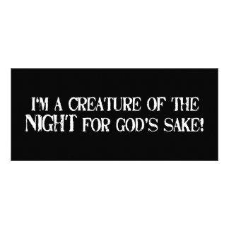 I'm a Creature of the Night for Gods Sake!! Personalized Rack Card