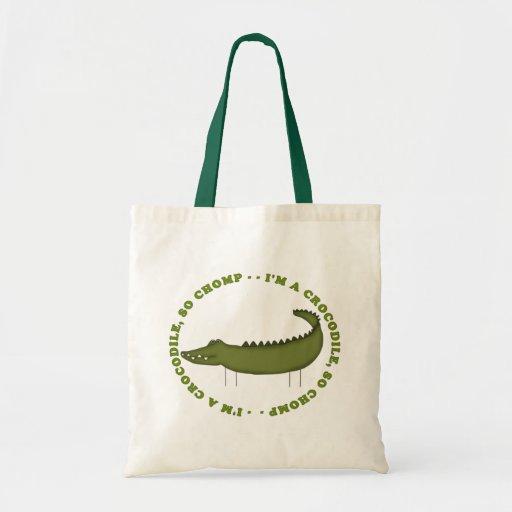I'm A Crocodile...So Chomp Budget Tote Bag