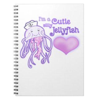 I'm a cutie silly jellyfish notebook