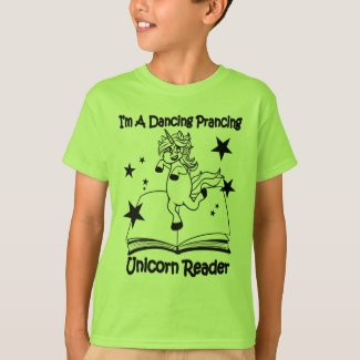 I'm A Dancing Prancing Unicorn Reader T-Shirt - BL