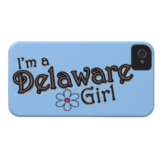 I'm a Delaware Girl, Flower, Blue iPhone Cover