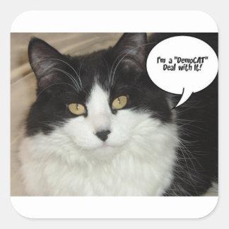 I'm a DemoCAT Deal with It! Square Sticker