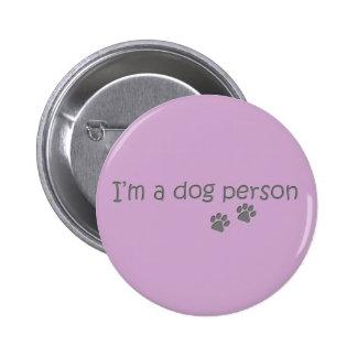 I'm a dog person button