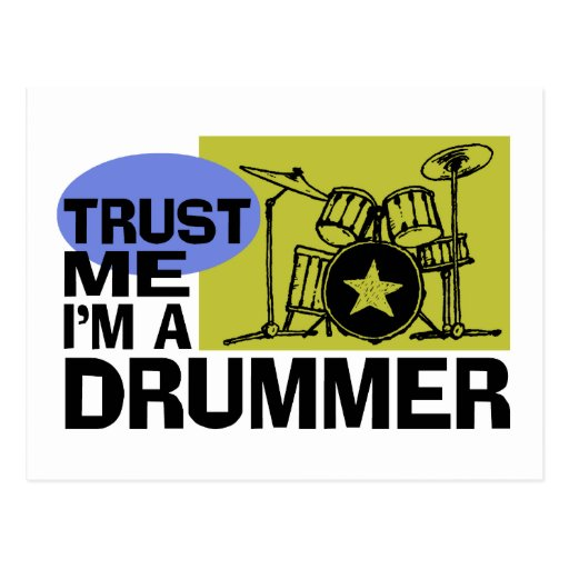 I'm A Drummer Card Postcard