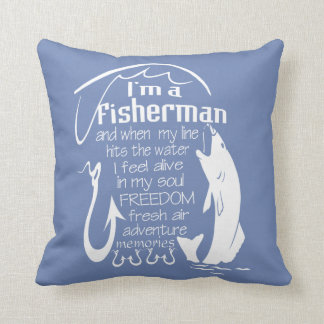 I'm a fisherman throw pillow