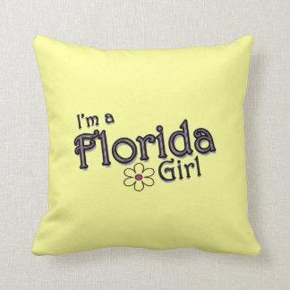 I'm a Florida Girl, Flower, Yellow Pillow