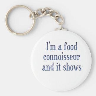 I'm a food connoisseur basic round button keychain