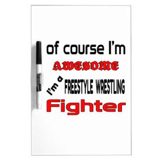 I'm a Freestyle Wrestling Fighter Dry-Erase Board