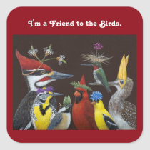 I'm a Friend to the Birds stickers