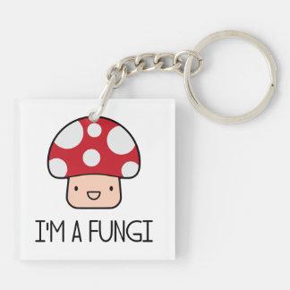 I'm a Fungi Fun Guy Mushroom Keychain