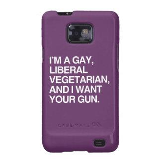I'm a gay, liberal vegetarian samsung galaxy SII case