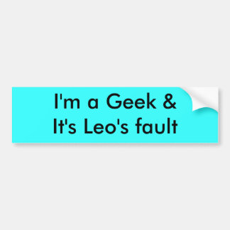 I'm a Geek Bumper Sticker