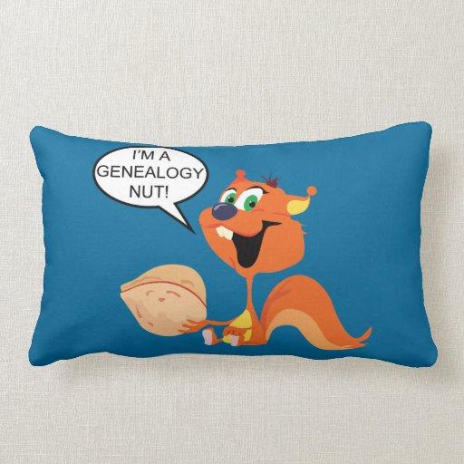 I'm a Genealogy Nut Squirrel Throw Pillows