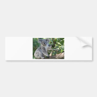 I'm a genuine Aussie: cute cuddly Australian koala Bumper Sticker
