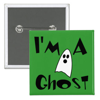I'm A Ghost Costume Button
