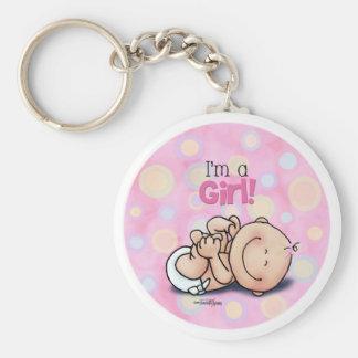 I'm a GIRL - baby gender Keychains