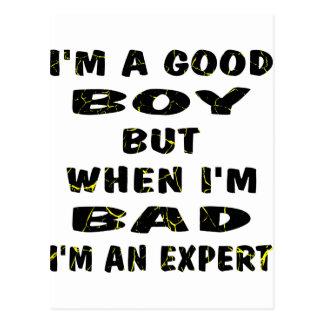I'm A Good Boy But When I'm Bad I'm An Expert Postcard