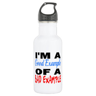 I'm A Good Example Of A Bad Example Water Bottle