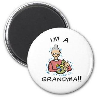 I'm a Grandma-Grandma and Baby Refrigerator Magnet