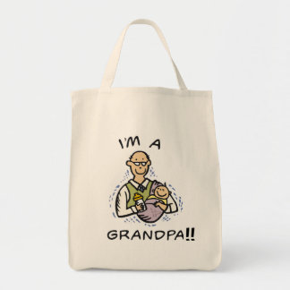 I'm a Grandpa T shirts and Gifts Grocery Tote Bag