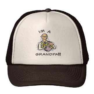 I'm a Grandpa T shirts and Gifts Mesh Hat