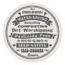 I'm A Green Classic Round Sticker