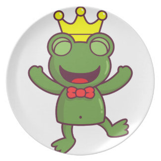 I'm a Green Frog Party Plates