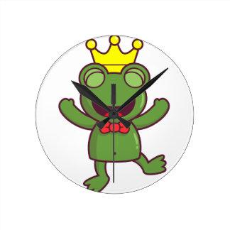 I'm a Green Frog Round Wall Clocks