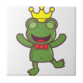 I'm a Green Frog Small Square Tile