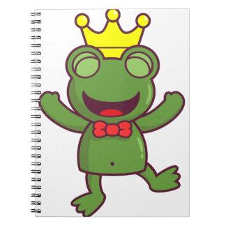 I'm a Green Frog Spiral Notebooks
