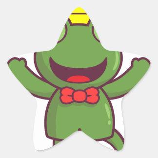 I'm a Green Frog Star Sticker