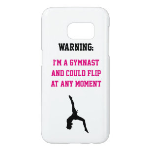 d0aa56b7 I'm a Gymnast Magenta Gymnastics Fun Quote Flip Samsung Galaxy S7 Case