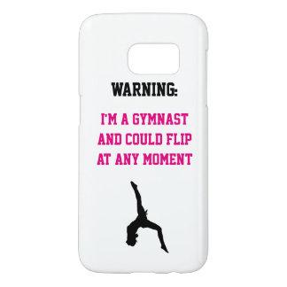 I'm a Gymnast Magenta Gymnastics Fun Quote Flip Samsung Galaxy S7 Case