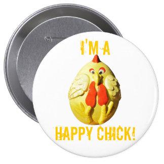 I'm A Happy Chick Pinback Button