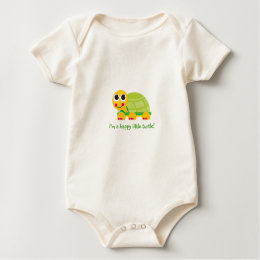 """I'm a happy little turtle - Customize it Baby Bodysuit"