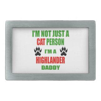 I'm a Highlander Daddy Rectangular Belt Buckles