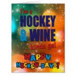 I'm A Hockey And Wine Kinda Gal Christmas Card