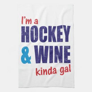 I'm A Hockey & Wine Kinda Gal Hand Towel