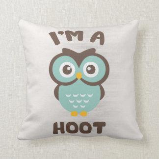 Cute Pillow Puns : I m A Hoot (Cute Owl Pun) Throw Pillow