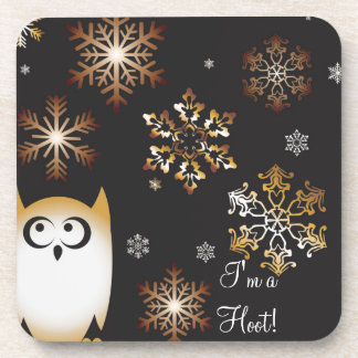 I'm a Hoot! Owl Lovers Punny Holiday Owl Coaster
