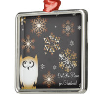 I'm a Hoot! Owl Lovers Punny Holiday Owl Metal Ornament