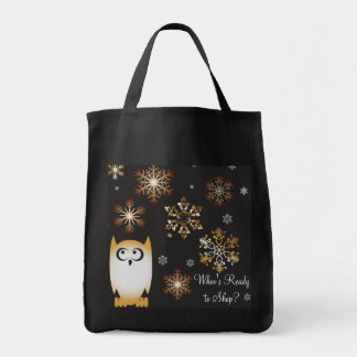 I'm a Hoot! Owl Lovers Punny Holiday Owl Tote Bag