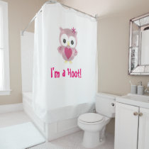 I'm a Hoot! Pink Owl Shower Curtain