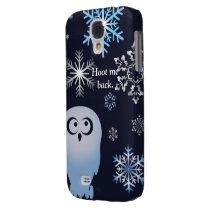 I'm A Hoot Snowy Owl Christmas Owl Blue Galaxy S4 Cover