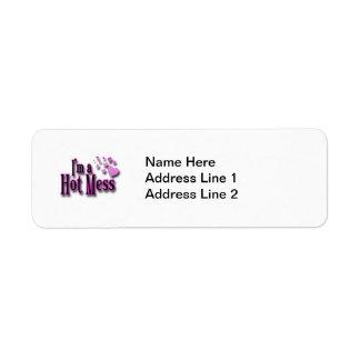 I'm a Hot Mess Return Address Label