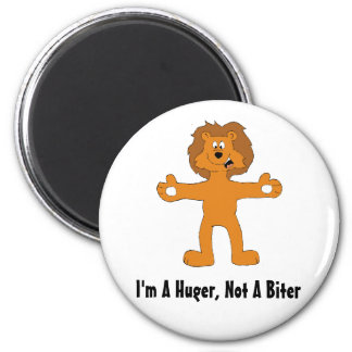 I'm A Huger, Not A Biter 2 Inch Round Magnet
