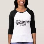 I'm a Indiana Girl, Flower, Pink & Black T-Shirt