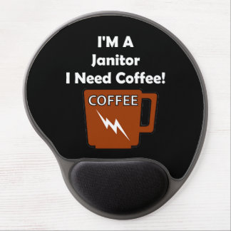 I'M A Janitor, I Need Coffee! Gel Mouse Pad