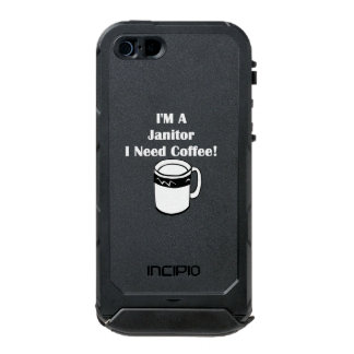 I'M A Janitor, I Need Coffee! Waterproof iPhone SE/5/5s Case